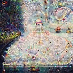 I made this with Google Deep Dream. It's almost completely computer generated art. Incredible. AI at its finest. #deepdream by hunder_and_lightning
