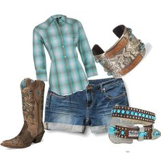 """Turquoise Cowgirl"" by coymeg01 on Polyvore"