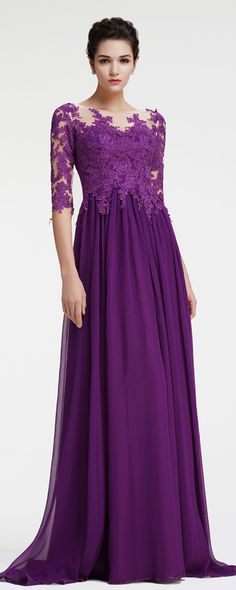 Purple mother of the bride dress with sleeves modest mother of the groom dresses plus size formal dresses