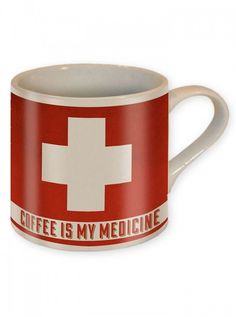 """Coffee is my Medicine"" Coffee Mug by Trixie & Milo #inked #inkedshop #inkedmagazine #coffee #mug #medicine"