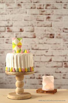 Cómo hacer un #Pastel de #Cumpleaños con #Lámpara de papel comestible  How to do a #Birthday #Cake with a edible paper