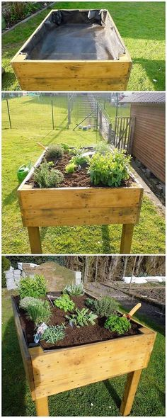 This is rather a simple idea of the pallet planter for you! Check out the mixture of modernity and simplicity within it that is all carried out with the blend work of the perfect means of planter cut to cut piece work. Make it part of your house right now!