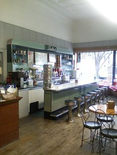 looks just like the one in my home down...soda fountain memories! Lipka's Soda Fountain // Montague, MI