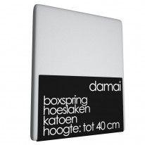 Boxspring Hoeslaken Damai Light Grey (Katoen) Bedsupply.eu  € 38.95