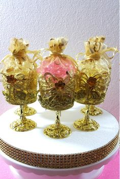 12 Royal Gold Cups Favors  Royal Princess by PlatinumDiaperCakes
