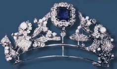 Antique Tiara, Prussia (sapphires, pearls, diamonds). www.royal-magazin.de
