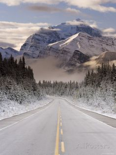 The Icefields Parkway, Banff-Jasper National Parks, Rocky Mountains, Canada Photographic Print by Gavin Hellier at AllPosters.com