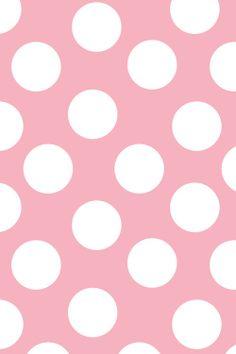 Pink + White Polka Dots