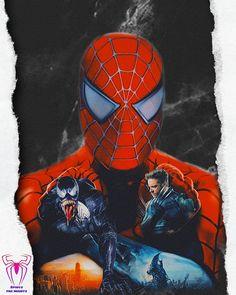 Spiderman Sam Raimi, Spiderman 2002, Black Spiderman, Marvel Art, Marvel Comics, Spider Man Trilogy, Amazing Fantasy 15, Venom, Man Movies