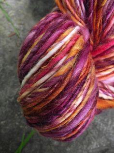 Handspun yarn handpainted Superwash Merino wool ooak by Yarnarchy, $34.00