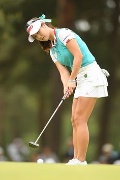 Ha-Neul Kim Photos Photos - Ha-Neul Kim of South Korea putts on the 16th green during the final round of the World Ladies Championship Salonpas Cup at the Ibaraki Golf Club on May 7, 2017 in Tsukubamirai, Japan. - World Ladies Championship Salonpas Cup - Day 4