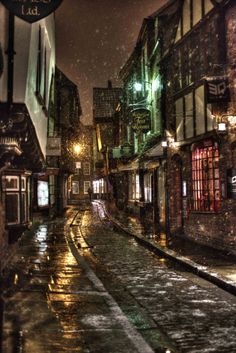The Dark Streets of York, England by Jim747 :-)