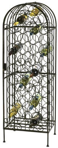 Howard Miller 655-146 Wine Storage Arbor by Howard Miller. Save 30 Off!. $255.50. Locking door for added security. The arbor features uniquely designed iron work throughout which beautifully showcases up to 45 bottles of wine. Adjustable levelers under each corner provide stability on uneven and carpeted floors. The Wine Arbor by Howard Miller is a This stylish wrought iron wine rack features a warm gray finish and a locking hinged front door.