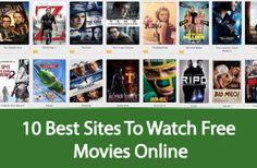10 best sites to watch free movies online Best Movie Sites, Free Movie Sites, Free Movie Downloads, Free Films, Free Movies Online Websites, Online Movie Sites, Watch Free Movies Online, Tv Shows Online, Books Online