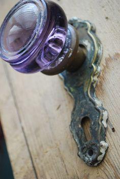 Sun Purple Door Knob