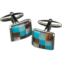 Rodium Plated Cufflinks w/ Semi Precious Stones, J115 [Kitchen]  http://electmejewellery.com/jewelry/mens-jewelry/rodium-plated-cufflinks-w-semi-precious-stones-j115-kitchen-ca/