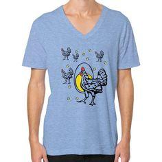 Roseanne Chicken V-Neck (on man) Shirt