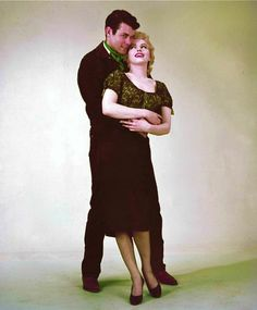 Marilyn and Don Murray in a publicity photo for Bus Stop. Photo by Milton Greene, 1956.