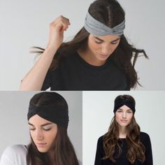 Black Lululemon knotty twist headband luon Luon black head band so cuteeee sadly just is not cute on me :( only worn a couple times like new just freshly washed. lululemon athletica Accessories Hair Accessories