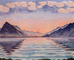 Ferdinand Hodler - Symbolism - Switzerland - Lake Thun, 1905.