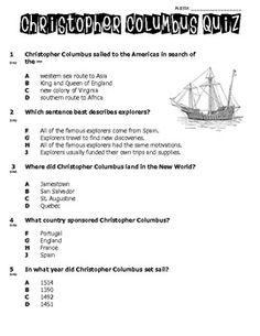 Columbus Day Worksheet: reading comprehension (Reading ...