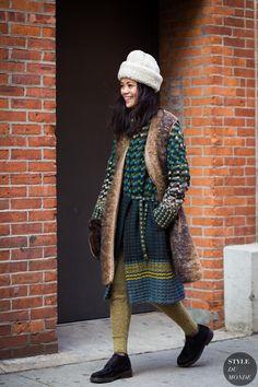 Patty Lu Street Style Street Fashion Streetsnaps by STYLEDUMONDE Street Style…