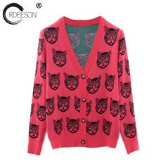 ORDEESON Korean Leopard Pattern Jacquard Deep V Neck Top Ugly Christmas Sweater Women Tops Jacket Jerseys Open Front Cardigan-in Cardigans from Women's Clothing & Accessories on Aliexpress.com | Alibaba Group