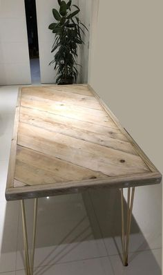 Pallet Dining Table, Plank Table, Diy Table, Dining Room Table, Coffe Table, Scaffold Table, Scaffold Boards, Table Furniture, Furniture Design