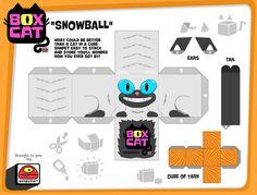 box cat-snowball