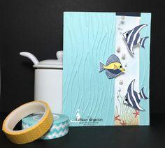 KathleenStamps: Seaside Shore Window Birthday Card