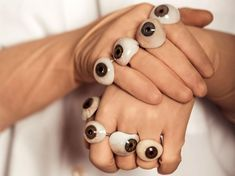 FEEAS jewelry by Remedios Vincent creates jewelry from antique medical instruments, porcelain figures, and prosthetics.