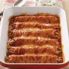 Acapulco Enchiladas ~ what makes them special? Almonds