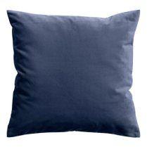 velvet pillow dark blue