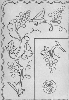 A vine pattern corner and border
