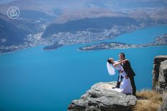 Stunning views of the turquoise Wakatiou Lake and Queenstown at this beautiful Heli Wedding. By Dan Childs at 222 Photographic Studios, Queenstown, New Zealand. Free Photography, Photography Services, Wedding Photography, Pre Wedding Photoshoot, Wedding Shoot, Queenstown New Zealand, Wonderful Picture, Photographic Studio, Stunning View