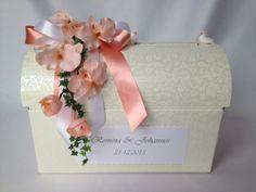 Briefbox, Kartenbox, Truhe für Hochzeitskarten von Carlos´ Kreativatelier auf DaWanda.com