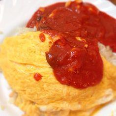今日のお昼ご飯(^O^)/ - 6件のもぐもぐ - 海老ピラフのトロトロオムライス 茸トマトソース添え by marchhares2