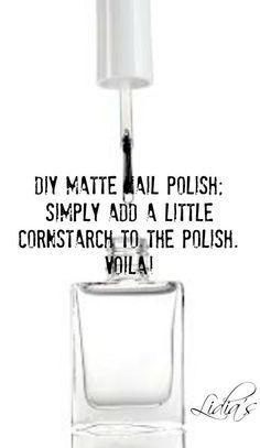 Cheap and easy DIY matte nail polish. NAILS | Nail matte nail polish