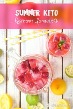 Summer Keto Raspberry Lemonade