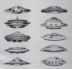 The National Sky Home Guard identification chart for extraterrestrial craft. Know your invaders!