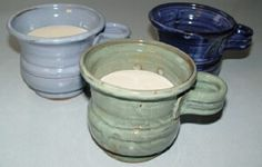 Our shaving soap comes with the mug, brush and various colors. Phoenix Homes, Shaving Soap, Soaps, Candle Holders, Candles, Mugs, Colors, Tableware, Hand Soaps