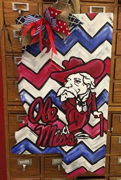 Mississippi colleges door hangers by PaintingBoutiquellc on Etsy
