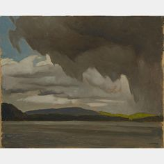 """Rain Clouds, Oxtongue Lake,"" A.J. Casson, 1981, oil on board,  12 x 15"", private collection."