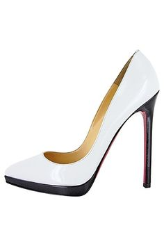 CHRISTIAN LOUBOUTIN  2013 - white, black, and red