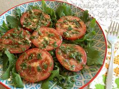 Ensalada de Tomates al Estilo Egipcio Bruschetta, Shrimp, Healthy Recipes, Healthy Food, Snacks, Vegetables, Ethnic Recipes, Ensalada Caprese, Mozzarella