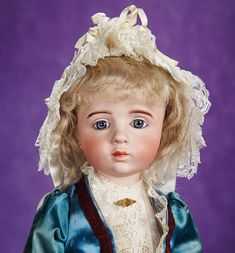 """Exceptionally rare French bisque art-character doll by Albert Marque. #23 of only 100 models believed to have been made. France, circa 1916. She was presented at Theriault's 2013 auction """"Lulu's Story"""" in New York City, NY. http://Theriaults.com/"""