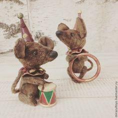Купить Мышата Пиф и Паф - коричневый, мышонок, мышки, мышь игрушка, авторская ручная работа