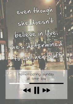 Remembering Sunday ♥ -All Time Low