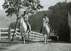 Ronald Reagan and Nancy riding at their Malilbu Ranch in 1958, site ot the proposed Ronald Reagan Equestrian Campground. Photo Courtesy of ...