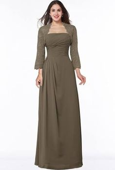 a514ba0645 Otter Modest Strapless Zip up Floor Length Lace Mother of the Bride Dresses  Mothers Dresses